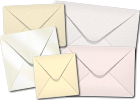 Ivory, Creams and Whites Envelopes