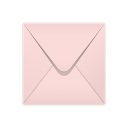 155x155mm Baby Pink Pastel Coloured Envelopes