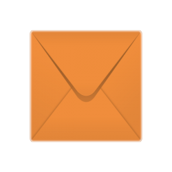 155x155mm Spectrum Range Orange Envelopes