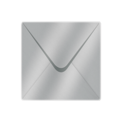 155x155mm Metallic Silver Envelopes