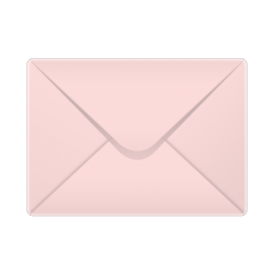133x184mm Baby Pink Pastel Coloured Envelopes