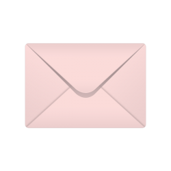 C6 Baby Pink Pastel Coloured Envelopes