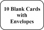 Sheet of 64 '10 Blank Cards' stickers